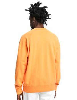 Sudadera Scotch - Soda Garment Dyed Crewneck Naranja