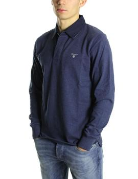 Polo Gant Heavy Rugger Liso Azul